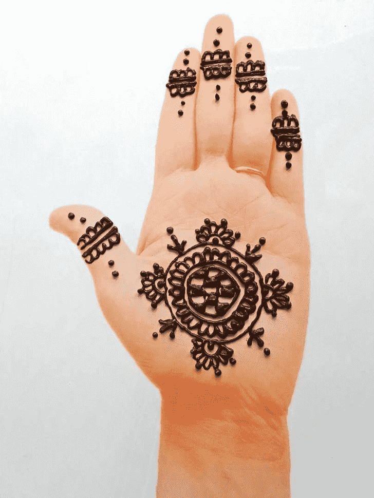 Awesome Front Hand Henna Design
