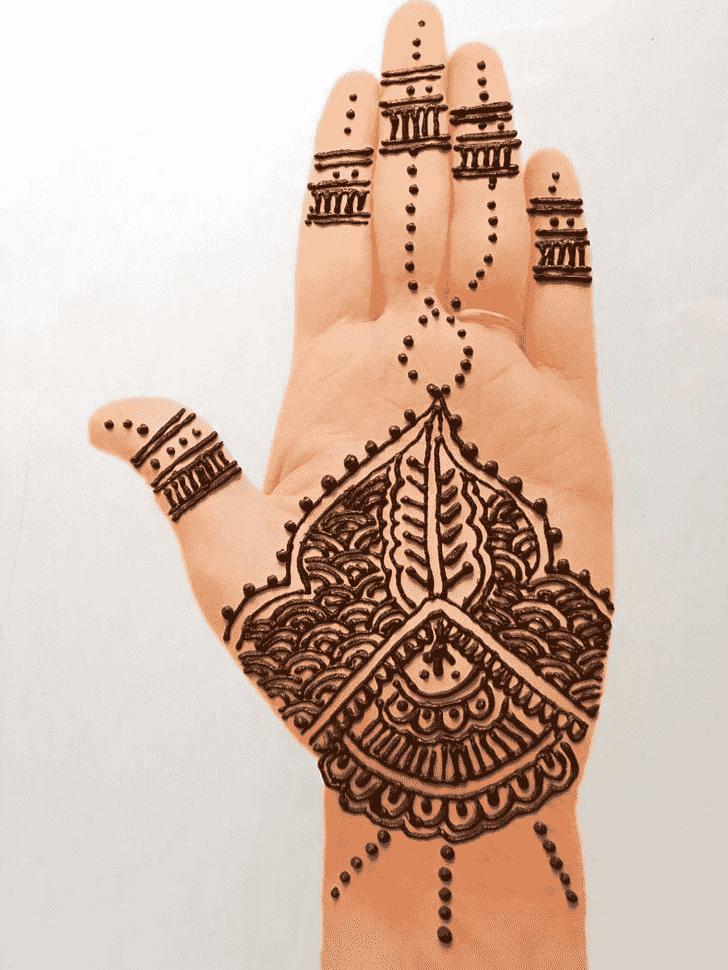 Magnetic Front Hand Henna Design