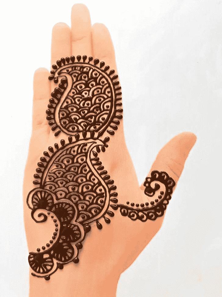 Radiant Front Hand Henna Design