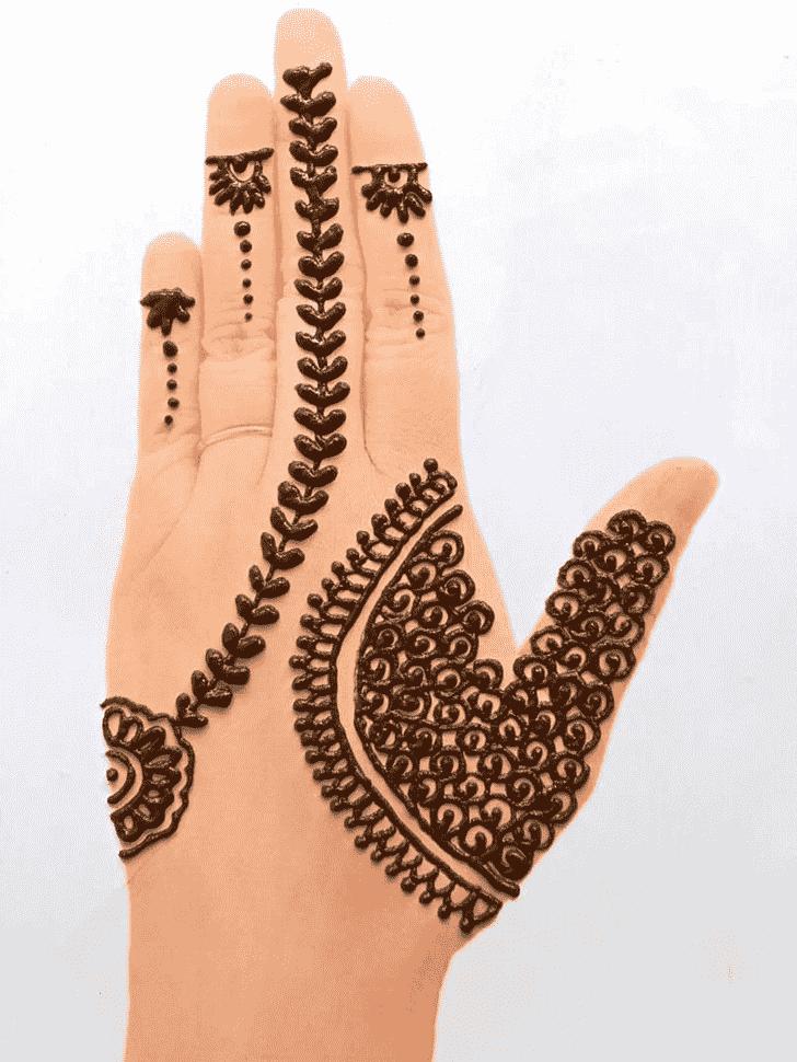 Ravishing Front Hand Henna Design