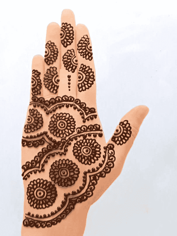 Refined Front Hand Henna Design