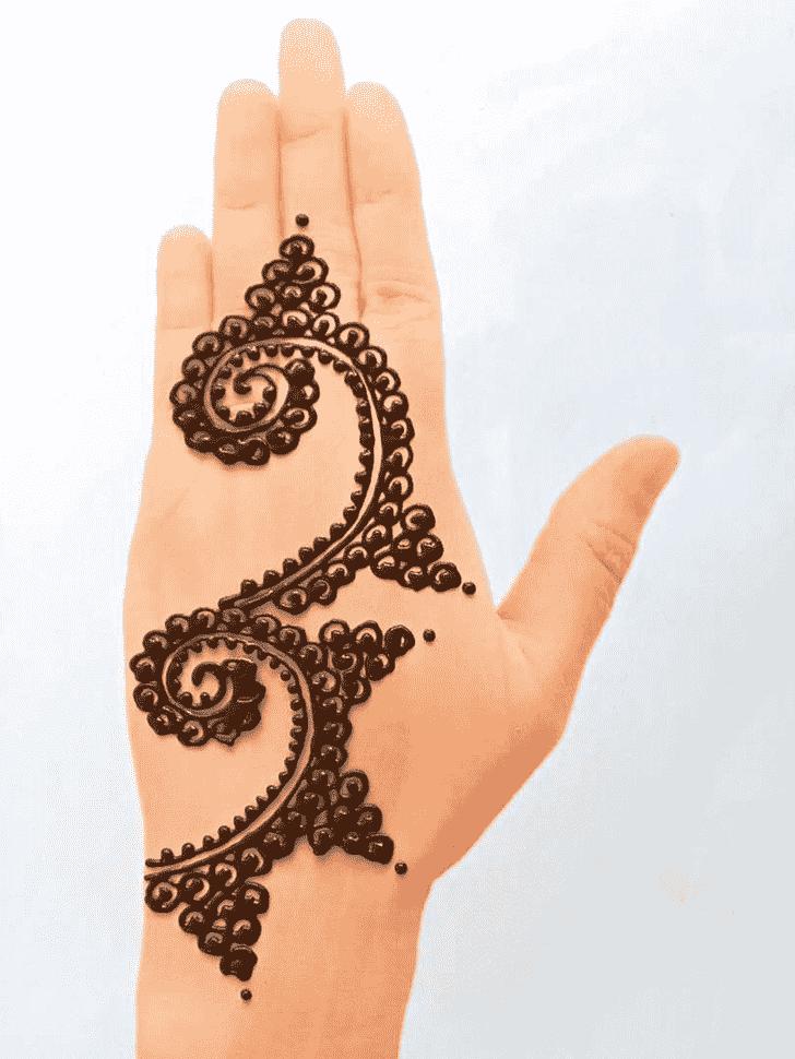 Slightly Front Hand Henna Design