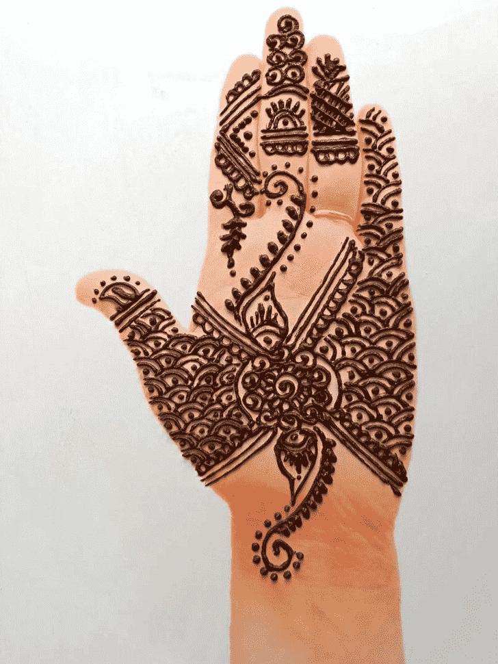 Stunning Front Hand Henna Design