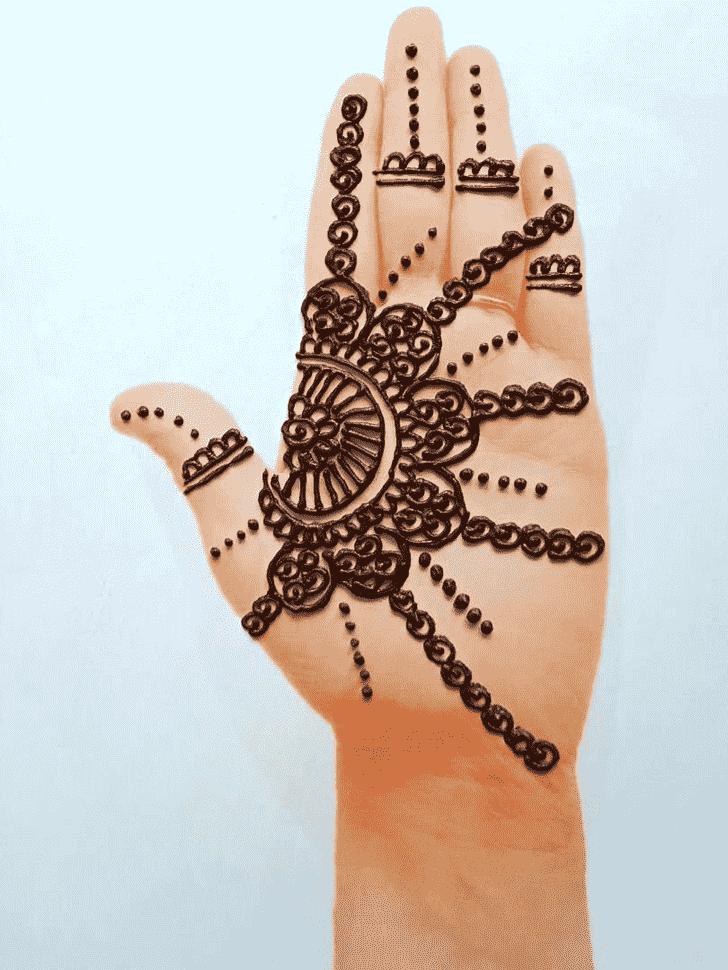 Superb Front Hand Henna Design