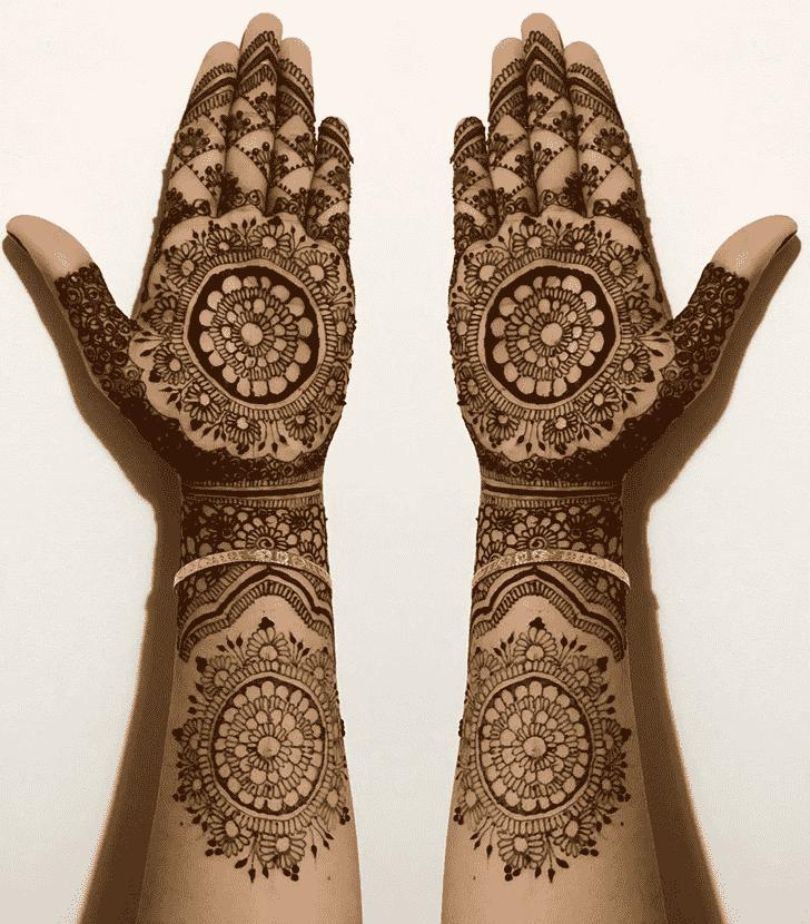 Admirable Full Hand Mehndi Design