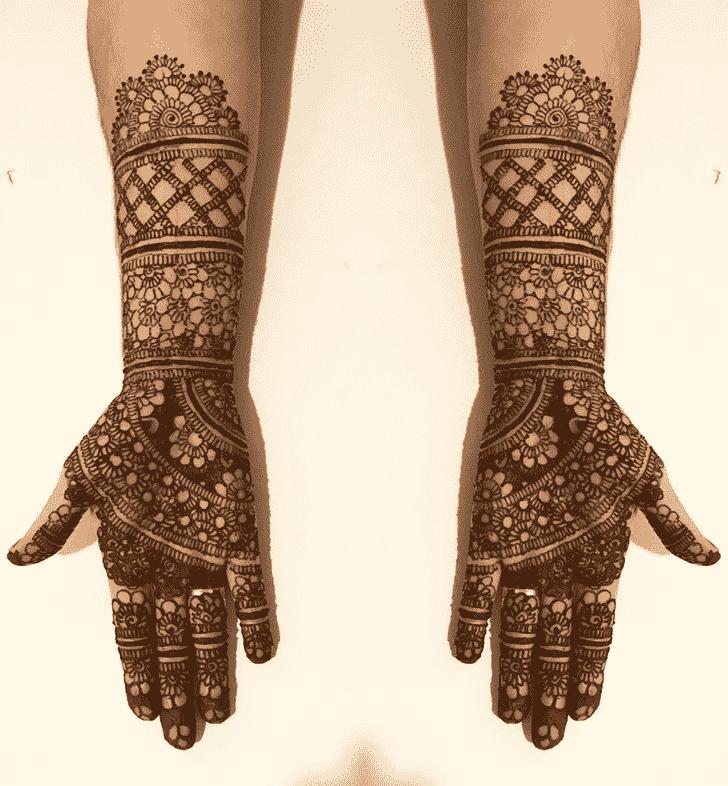 Adorable Full Hand Henna Design