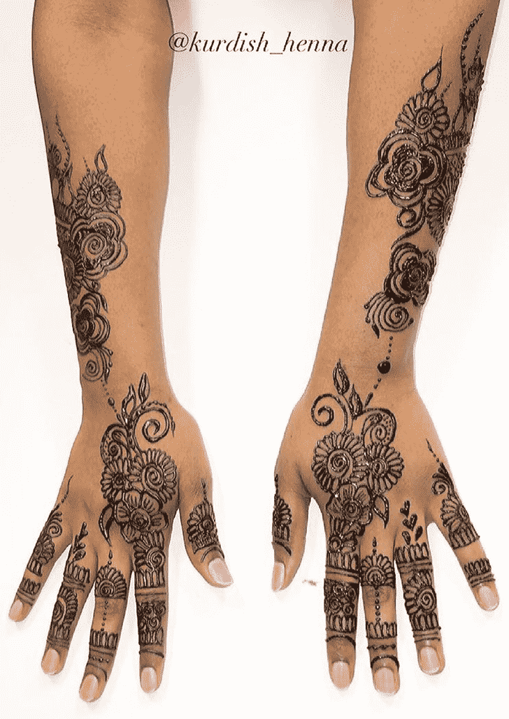 Alluring Full Hand Henna Design