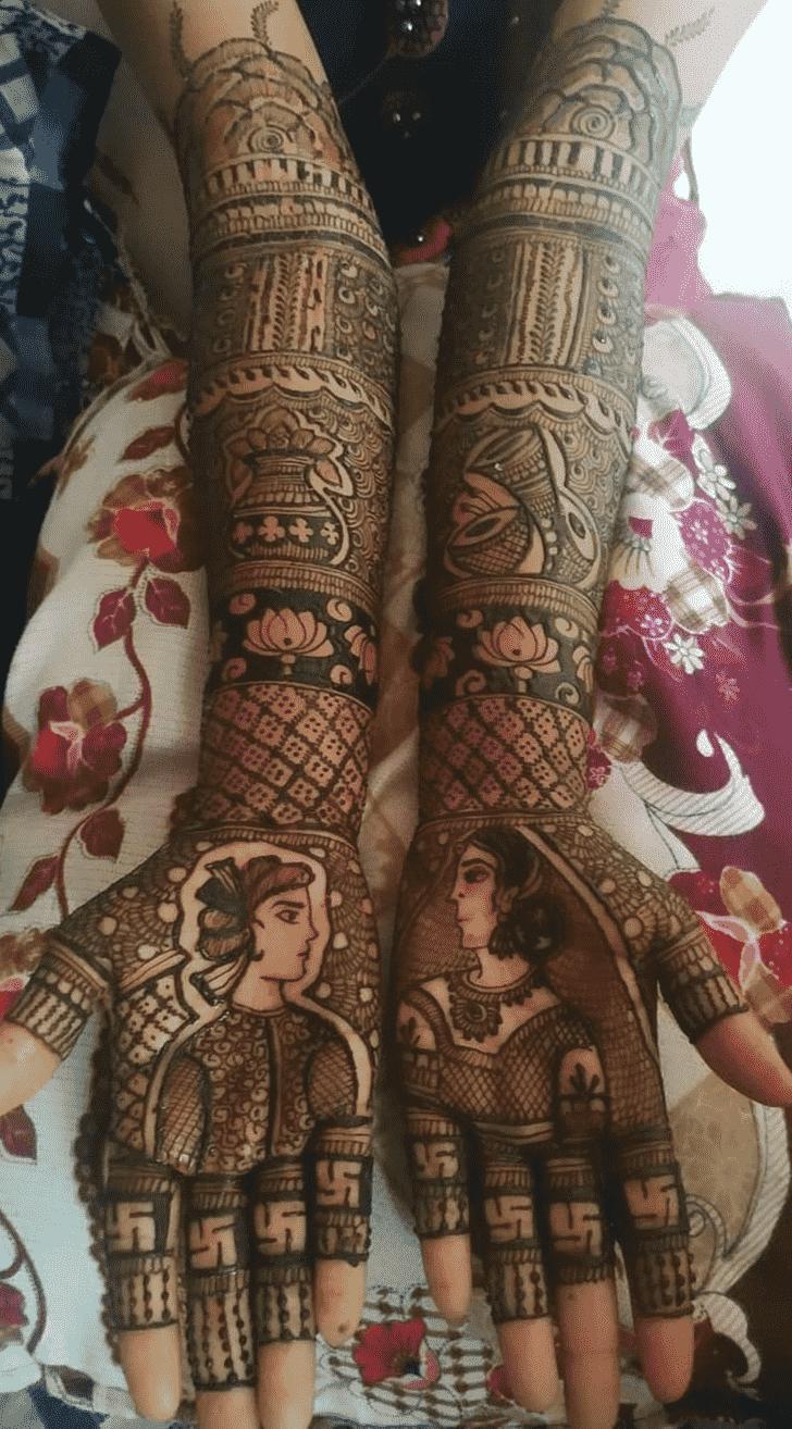 Appealing Full Hand Henna Design