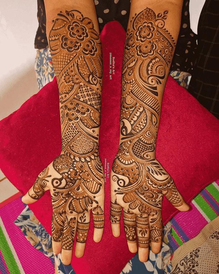 Bewitching Full Hand Henna Design