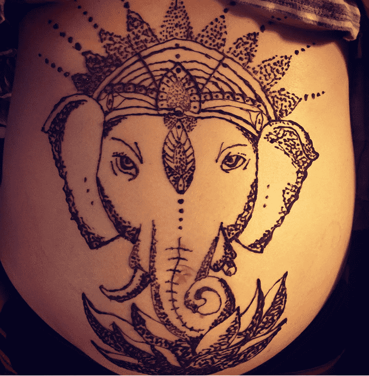 Appealing Ganesh Chaturthi Henna Design