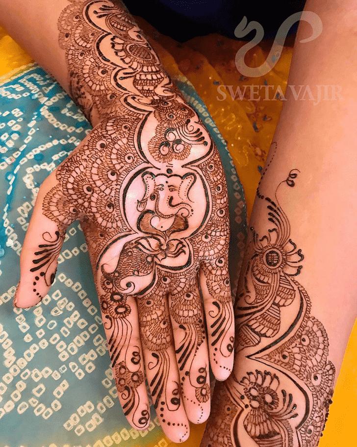 Appealing Ganesh Henna Design