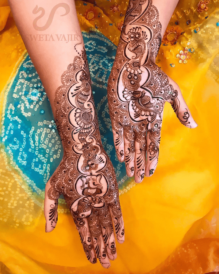Beautiful Ganesh Henna Design