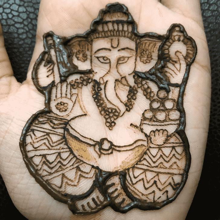 Classy Ganesh Henna Design