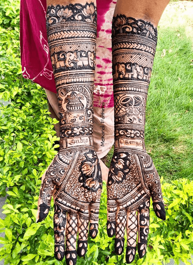 Classy Gangtok Henna Design