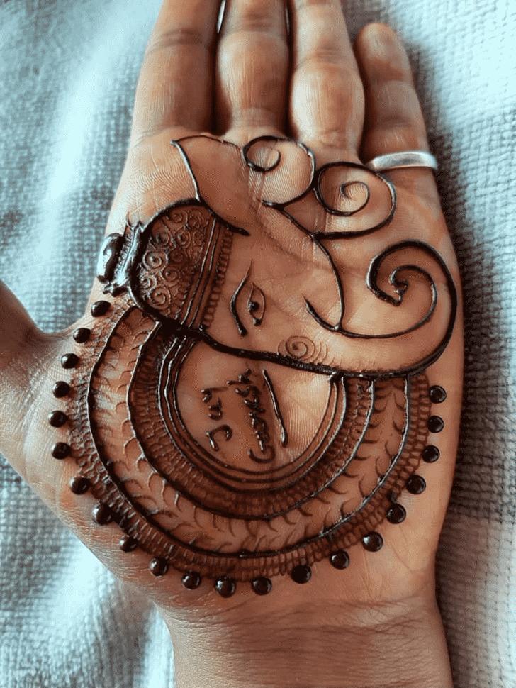 Angelic Ganpati Henna design