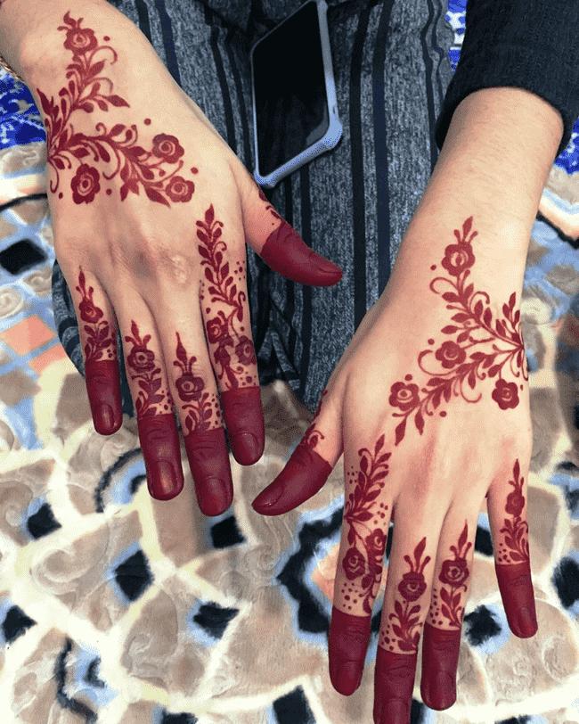 Bewitching Ghazni Henna Design