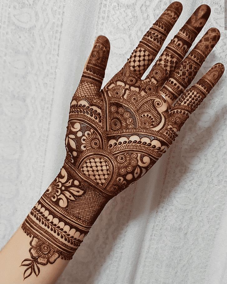 Adorable Girls Henna Design