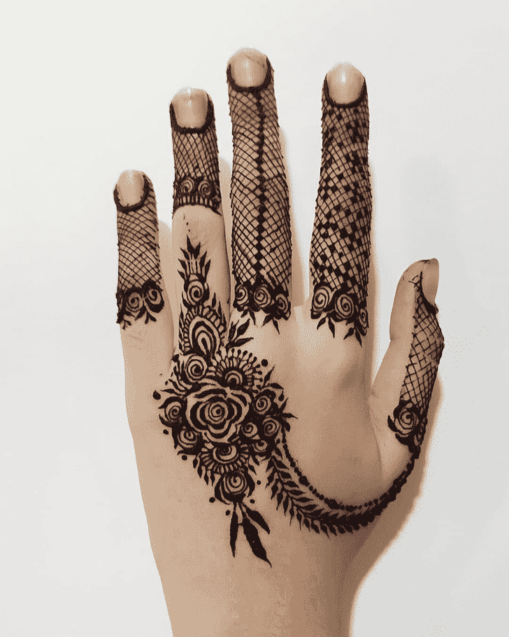 Captivating Girls Henna Design