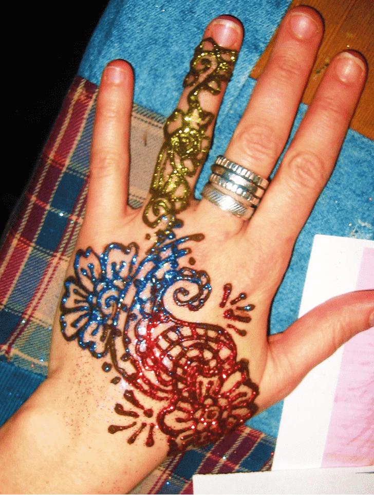 Appealing Glitter Henna Design