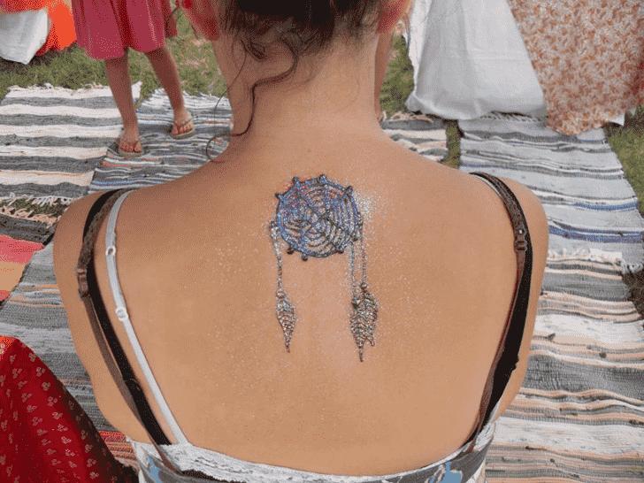 Magnificent Glitter Henna Design