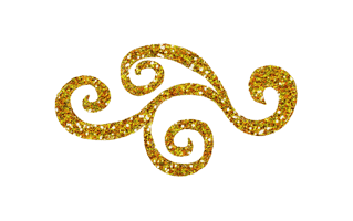 Glitter Mehndi Design