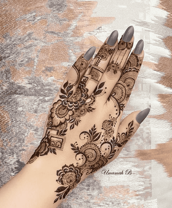 Graceful Goa Henna Design