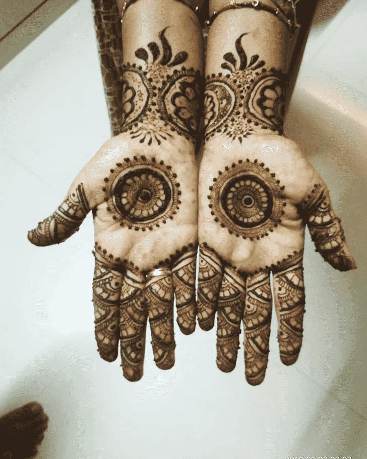 Arm Gol Tikki Henna Design
