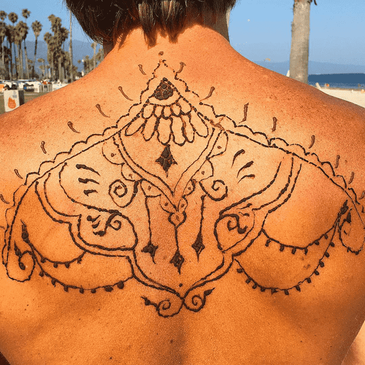 Adorable Groom Henna Design