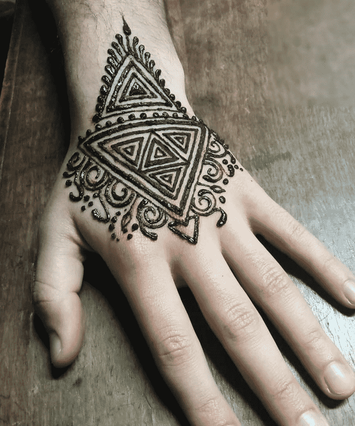 Bewitching Groom Henna Design