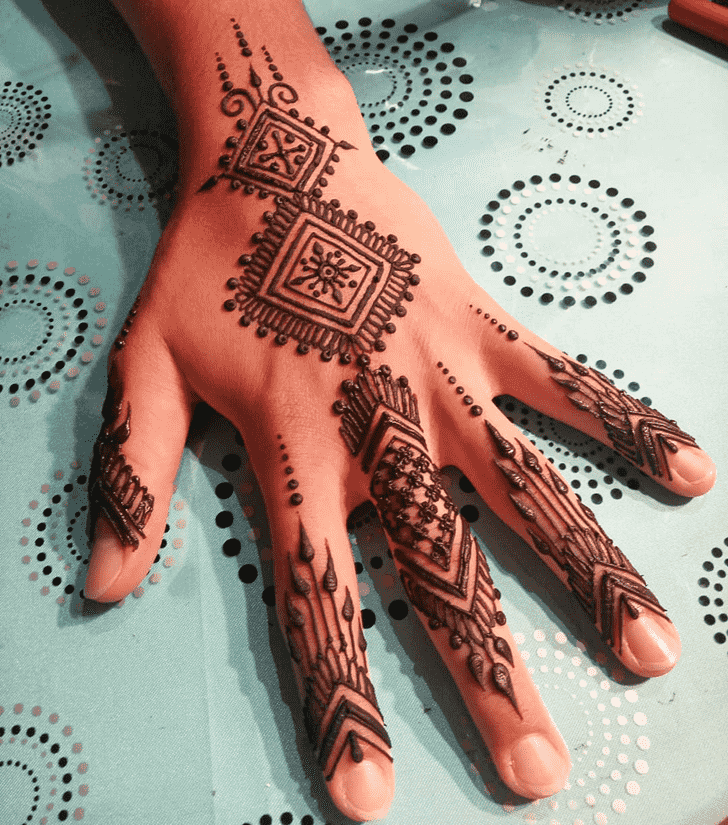 Captivating Groom Henna Design