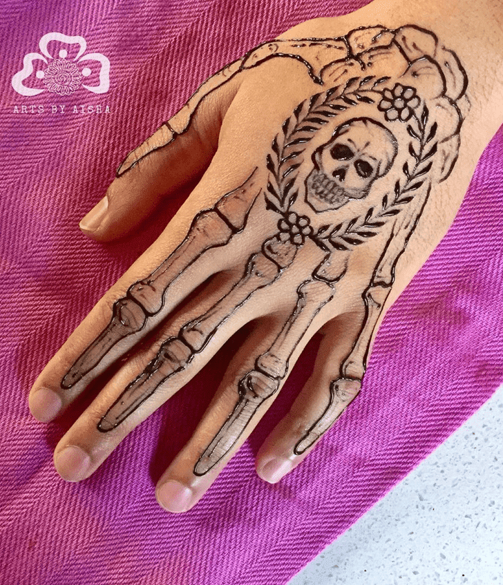 Angelic Halloween Henna Design
