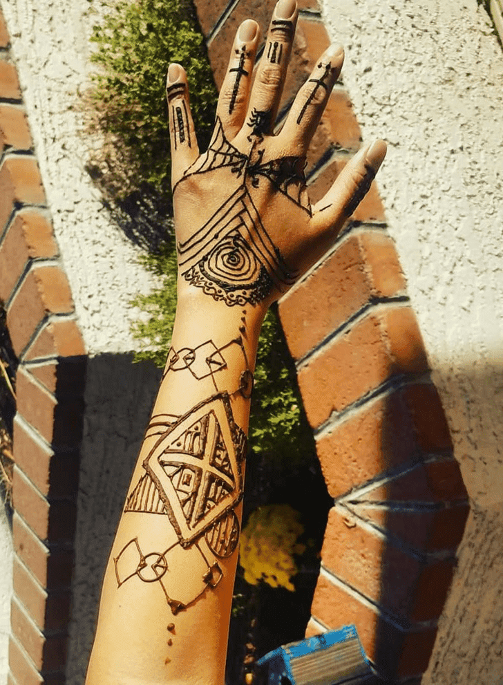 Appealing Halloween Henna Design