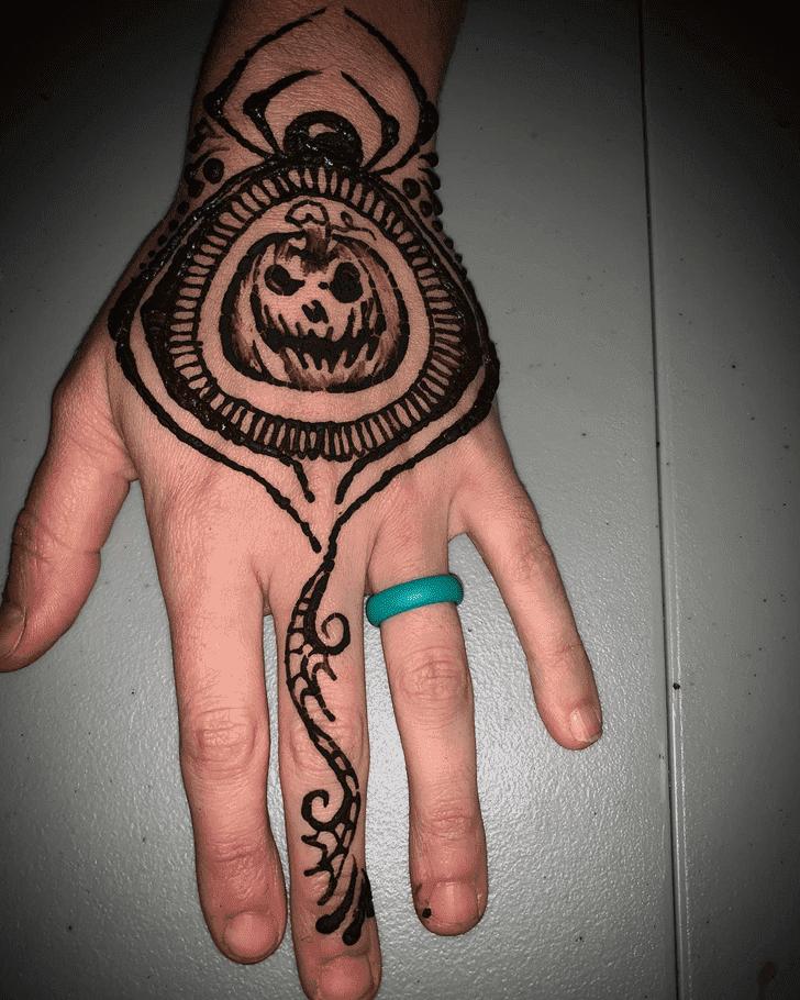 Comely Halloween Mehndi Design
