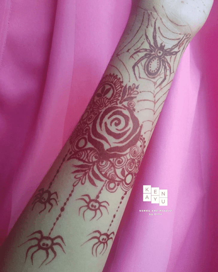 Delicate Halloween Henna Design