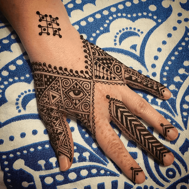 Delightful Halloween Henna Design
