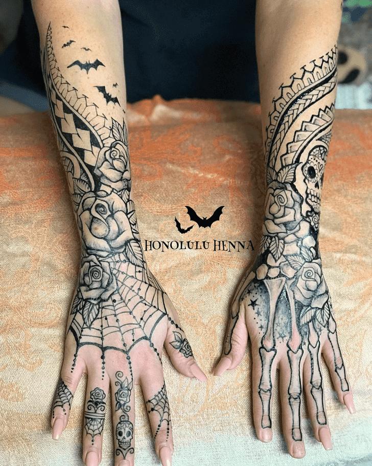 Divine Halloween Henna Design