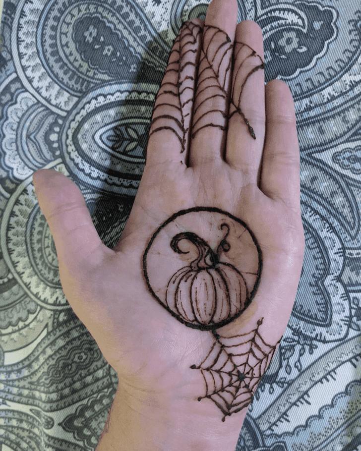 Enticing Halloween Henna Design