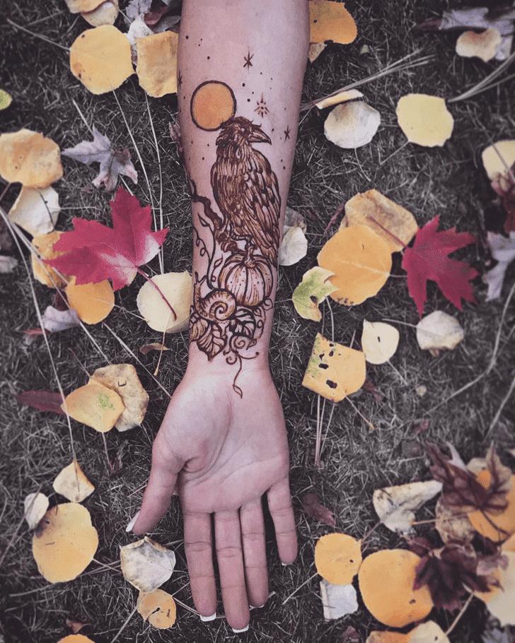 Fascinating Halloween Henna Design