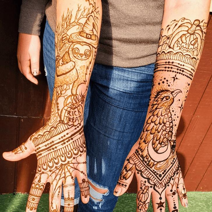 Good Looking Halloween Henna Design