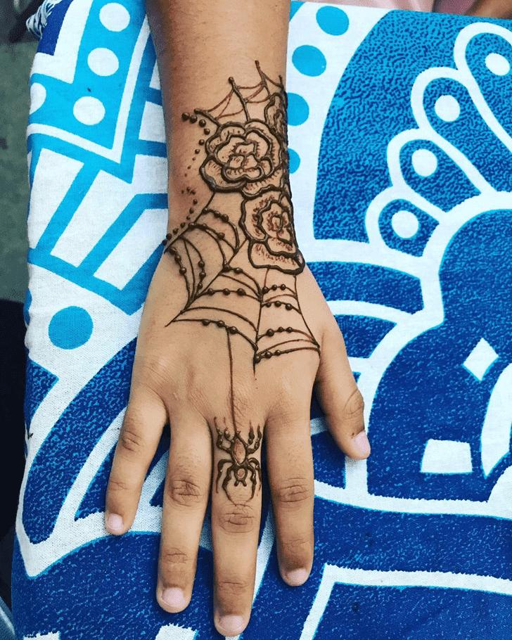 Gorgeous Halloween Henna Design