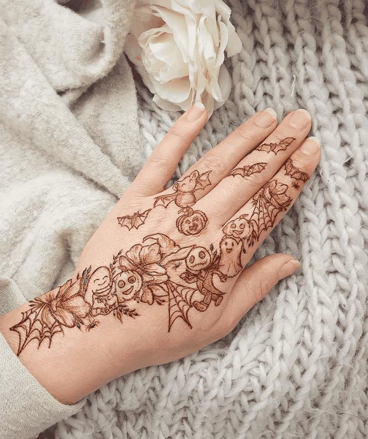 Marvelous Halloween Henna Design