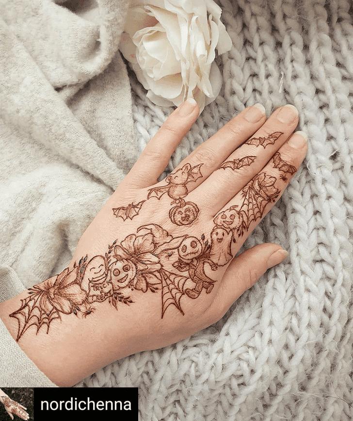 Pretty Halloween Henna Design