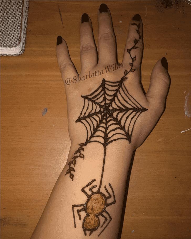 Radiant Halloween Henna Design