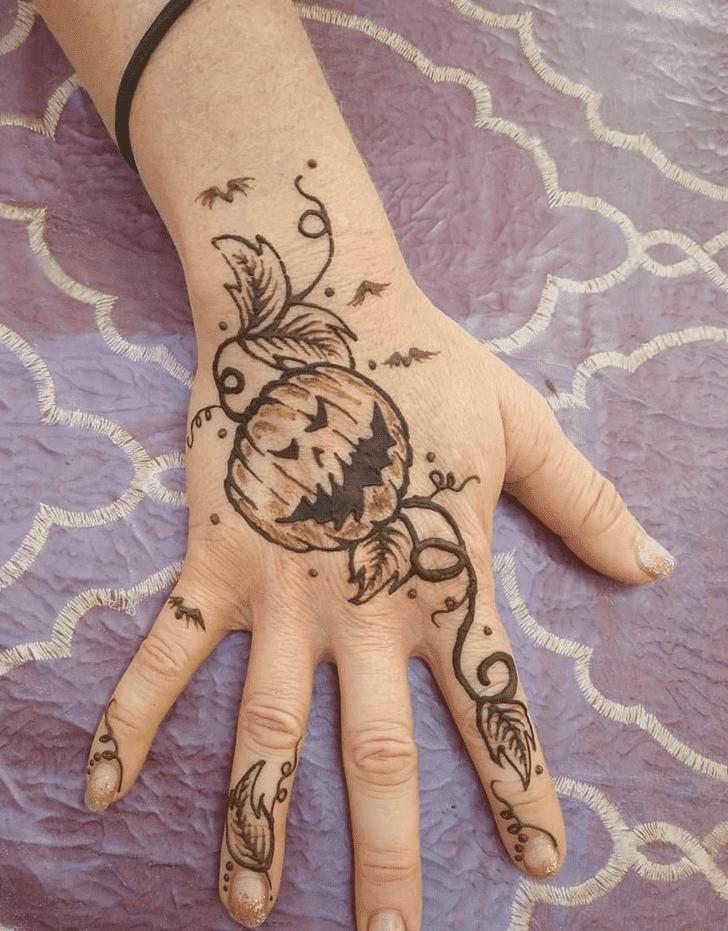 Ravishing Halloween Henna Design