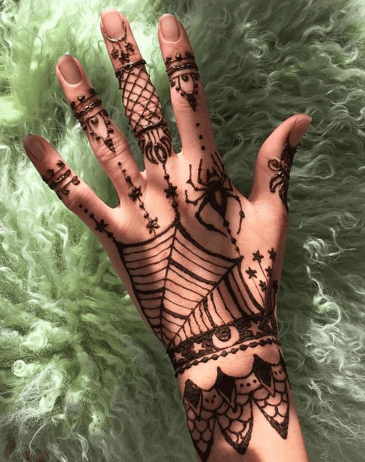 Superb Halloween Henna Design