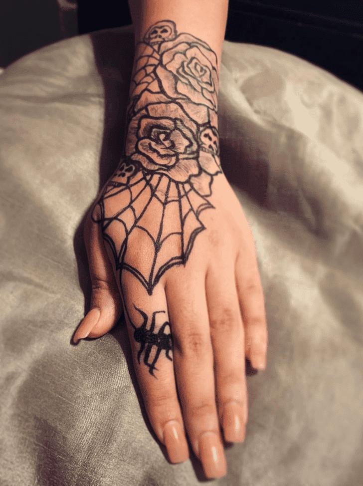 Tantalizing Halloween Henna Design