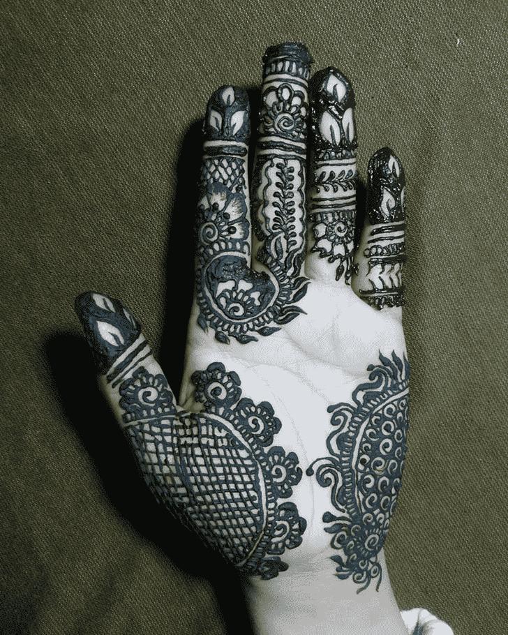 Angelic Hand Henna Design