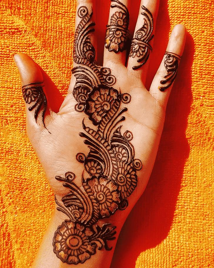 Slightly Hand Henna Design