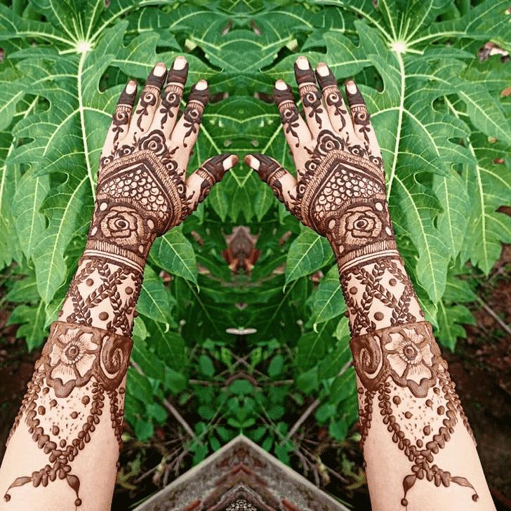 Angelic Hariyali Teej Henna Design