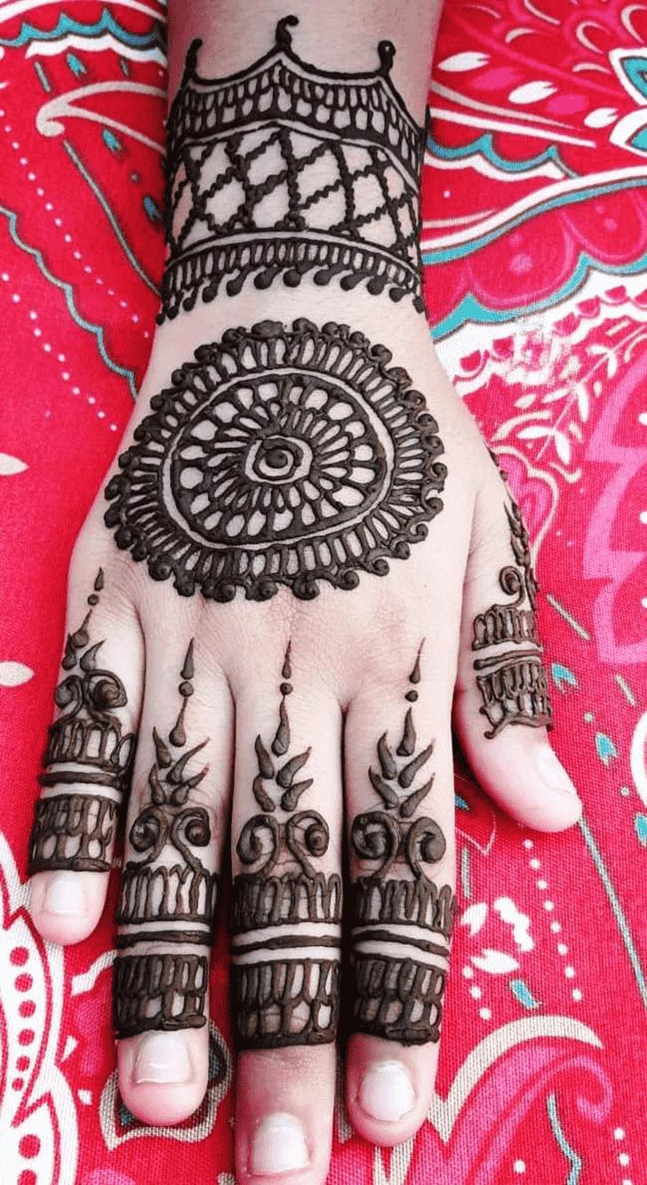 Appealing Hariyali Teej Henna Design